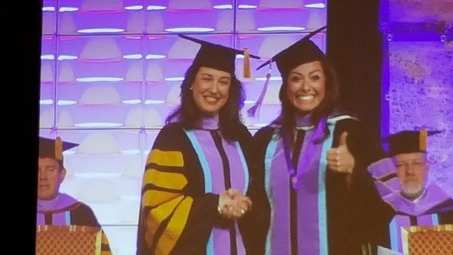 Dr Dawn being awarded the Mastery of General Dentistry