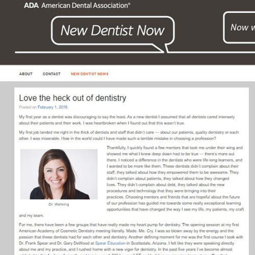 ADA New Dentist Blog February 2016: The secret to being a success: Love the heck out of dentistry