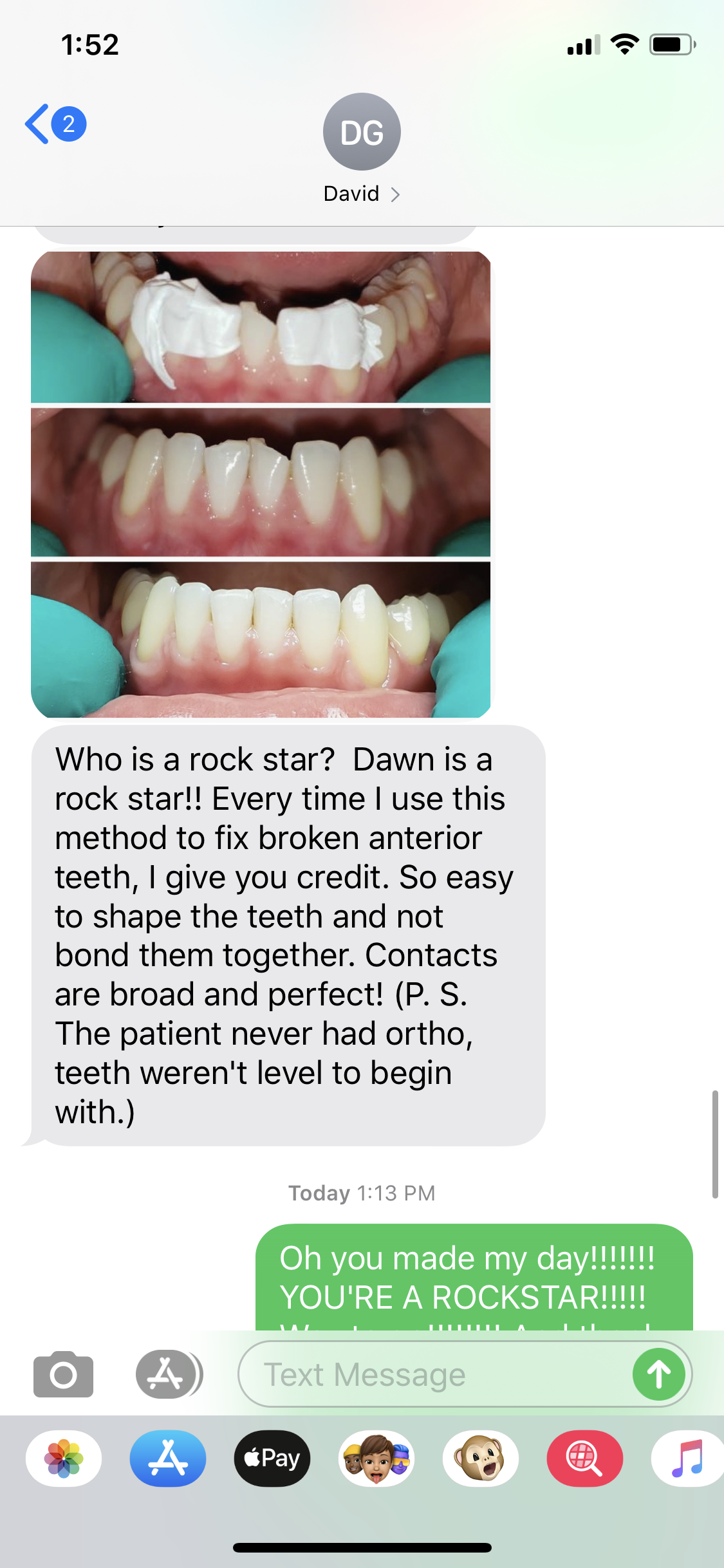 An Awesome Thank You Text from a Dentist Friend