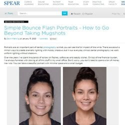 Simple Bounce Flash Portraits - How to Go Beyond Taking Mugshots